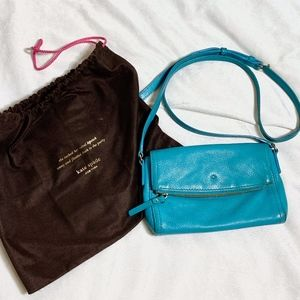 Kate Spade Turquoise Crossbody Bag Fold Over Style
